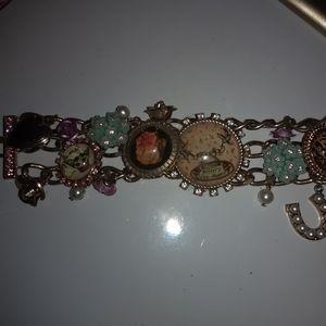 Betsey Johnson Tea party bracelet rare
